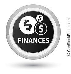 Finances (dollar sign) prime black round button