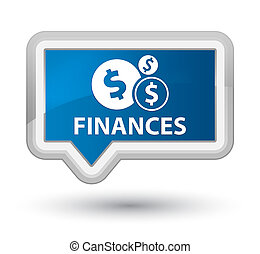 Finances (dollar sign) prime blue banner button
