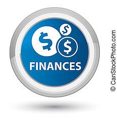 Finances (dollar sign) prime blue round button