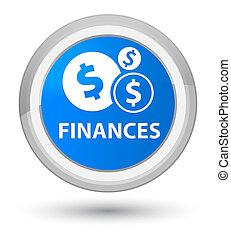 Finances (dollar sign) prime cyan blue round button