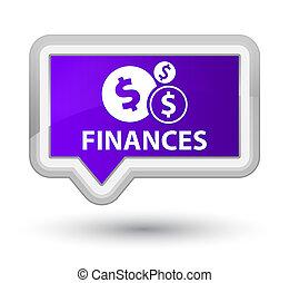 Finances (dollar sign) prime purple banner button