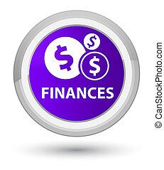 Finances (dollar sign) prime purple round button