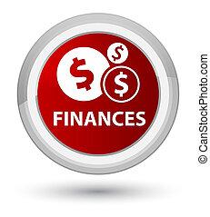 Finances (dollar sign) prime red round button