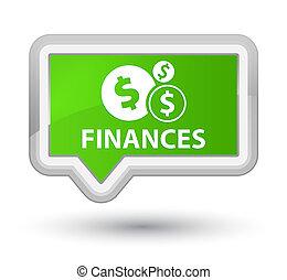 Finances (dollar sign) prime soft green banner button