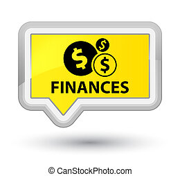 Finances (dollar sign) prime yellow banner button