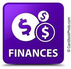 Finances (dollar sign) purple square button
