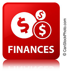 Finances (dollar sign) red square button