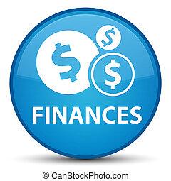 Finances (dollar sign) special cyan blue round button