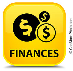 Finances (dollar sign) special yellow square button