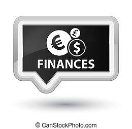 Finances (euro sign) prime black banner button
