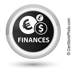 Finances (euro sign) prime black round button