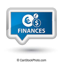 Finances (euro sign) prime blue banner button