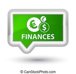 Finances (euro sign) prime green banner button