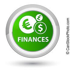 Finances (euro sign) prime green round button