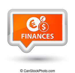 Finances (euro sign) prime orange banner button