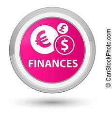 Finances (euro sign) prime pink round button