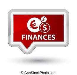 Finances (euro sign) prime red banner button