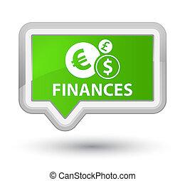 Finances (euro sign) prime soft green banner button