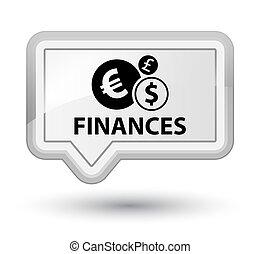 Finances (euro sign) prime white banner button