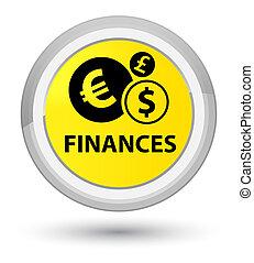 Finances (euro sign) prime yellow round button
