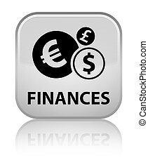 Finances (euro sign) special white square button