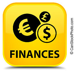 Finances (euro sign) special yellow square button