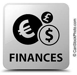Finances (euro sign) white square button