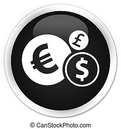 Finances icon black glossy round button