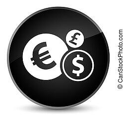 Finances icon elegant black round button