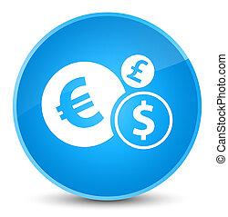Finances icon elegant cyan blue round button