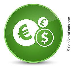 Finances icon elegant soft green round button