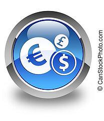 Finances icon glossy blue round button