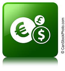 Finances icon green square button