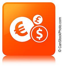Finances icon orange square button