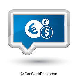 Finances icon prime blue banner button