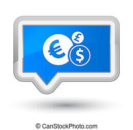 Finances icon prime cyan blue banner button
