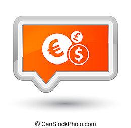 Finances icon prime orange banner button