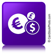 Finances icon purple square button