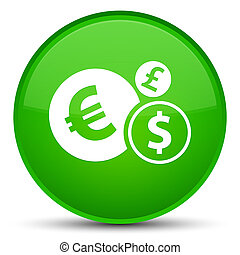 Finances icon special green round button
