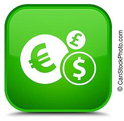 Finances icon special green square button