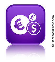 Finances icon special purple square button