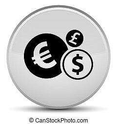 Finances icon special white round button