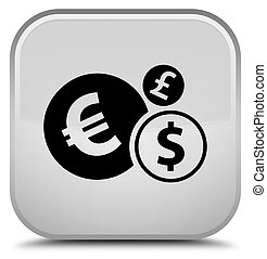 Finances icon special white square button