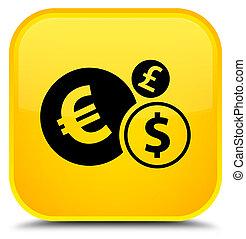 Finances icon special yellow square button
