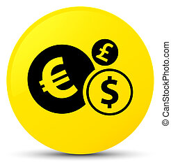 Finances icon yellow round button