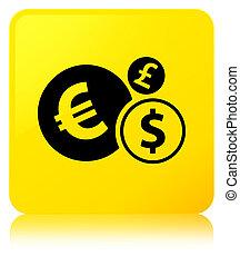 Finances icon yellow square button