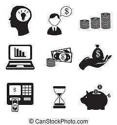 finances icons over white background vector illustration