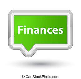 Finances prime soft green banner button