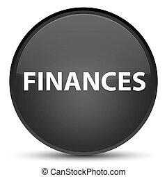 Finances special black round button