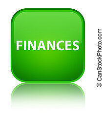 Finances special green square button